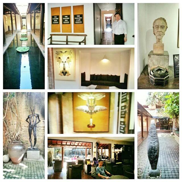 บรรยากาศร้านอาหารเดอะแกลลอรี่ คาเฟ่ที่ Paradise Road Galleries ในเมืองโคลัมโบ ซึ่งเป็นหอศิลป์ที่รวบรวมผลงานศิลปะของสถาปนิกชื่อดังในศรีลังกา ทำให้ผู้ที่มารับประทานอาหาร ได้เพลิดเพลินกับผลงานศิลปะ และอิ่มท้องกับอาหารที่อร่อยด้วยครับ…